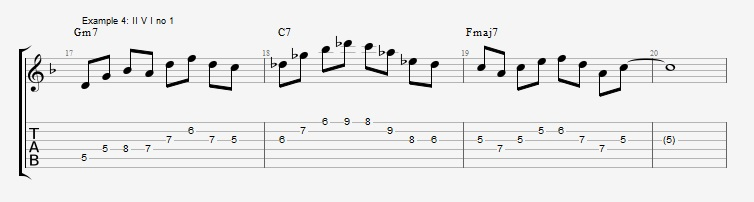 How to use triads in solos ex 4