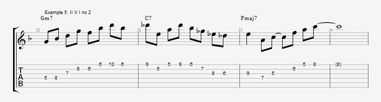 How to use triads in solos ex 5