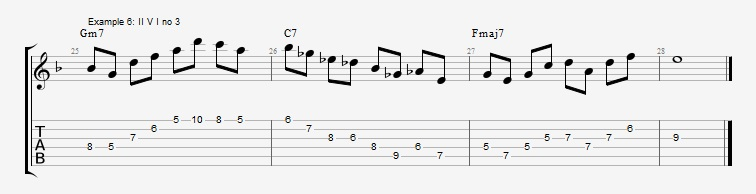 How to use triads in solos ex 6
