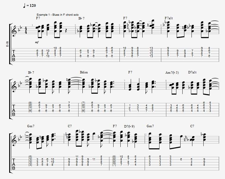 Jazz Blues Chord Solo Jens Larsen