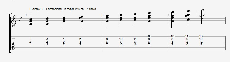 Jazz Blues Chord Solo - ex 2