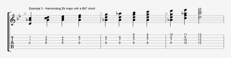 Jazz Blues Chord Solo - ex 3
