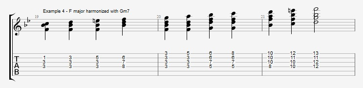 Jazz Blues Chord Solo - ex 4