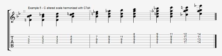 Jazz Blues Chord Solo - ex 5