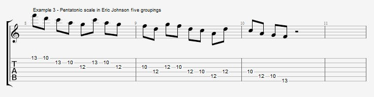 Making II V I lines with Odd Note Groupings ex 3