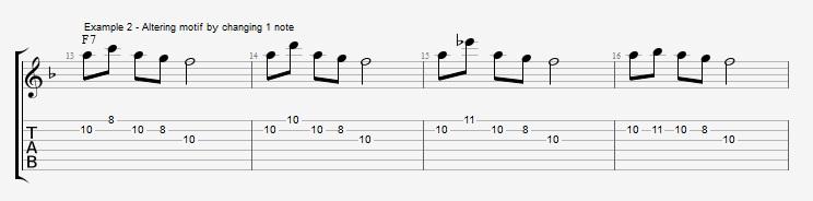Motif Exercises - F Jazz Blues ex 2