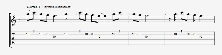 Motif Exercises - F Jazz Blues ex 4