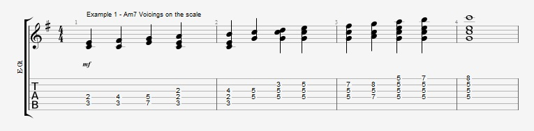 Adding Chords to Single Note Lines - Part 1 - Ex 1