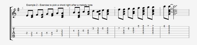 Adding Chords to Single Note Lines - Part 1 - Ex 2