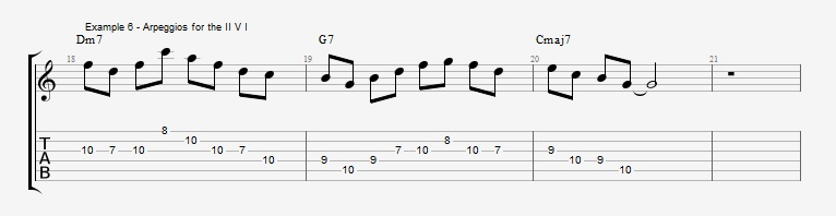 How to start soloing over a II V I with arpeggios - ex 6