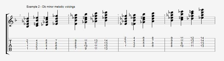 Jazz Chord Essentials - 4 part Quartal Harmony ex 2