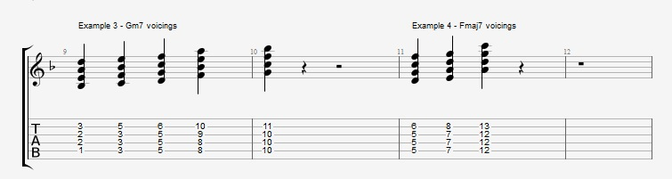 Jazz Chord Essentials - 4 part Quartal Harmony ex 3