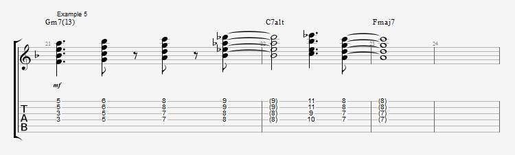 Jazz Chord Essentials - 4 part Quartal Harmony ex 5