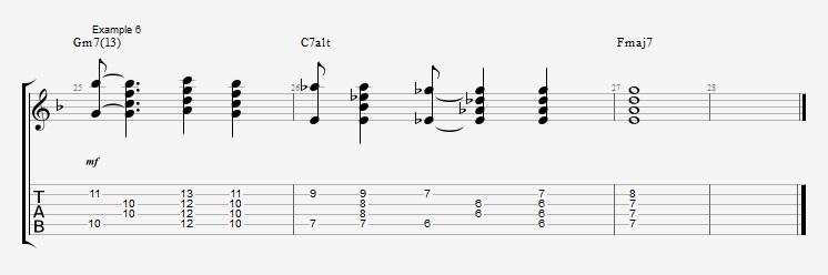 Jazz Chord Essentials - 4 part Quartal Harmony ex 6