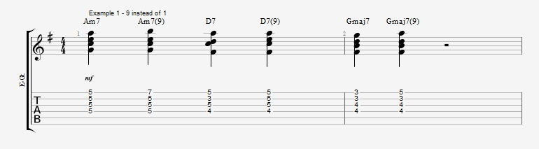 Jazz Chord Essentials - Drop 2 voicings part 2 ex 1