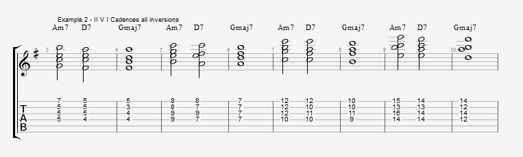 Jazz Chord Essentials - Drop 2 voicings part 2 ex 2