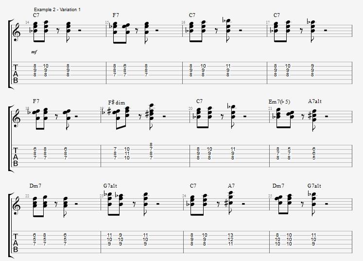 Developing Basic Comping Rhythms - ex 2