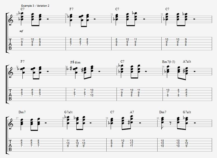Developing Basic Comping Rhythms - ex 3