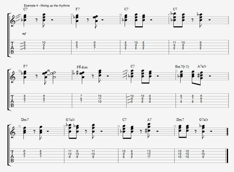 Developing Basic Comping Rhythms - ex 4