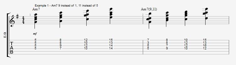 Jazz Chord Essentials - Drop 2 voicings part 3 - ex 1
