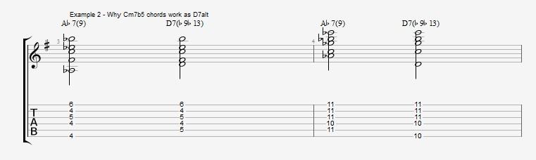 Jazz Chord Essentials - Drop 2 voicings part 3 - ex 2