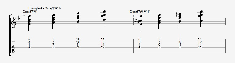 Jazz Chord Essentials - Drop 2 voicings part 3 - ex 4