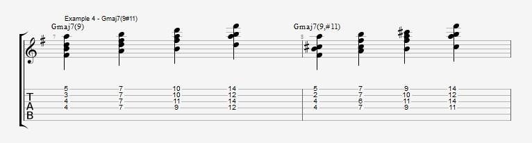Jazz Chord Essentials - Drop 2 voicings part 3 - ex 4