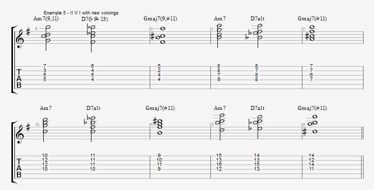 Jazz Chord Essentials - Drop 2 voicings part 3 - ex 5