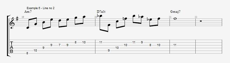 Drop2 voicings as Arpeggios - Ex 6