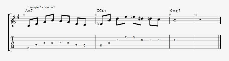 Drop2 voicings as Arpeggios - Ex 7