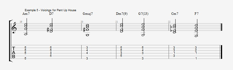 First II V I voicings ex 5