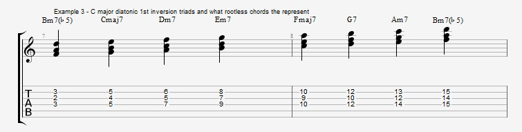 Rootless Voicings - Part 1 - Triads - ex 3