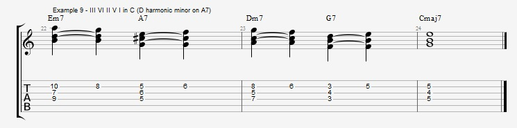 Rootless Voicings - Part 1 - Triads - ex 9