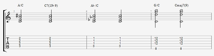 Slash Chords - All triads over bass notes - ex 2 3