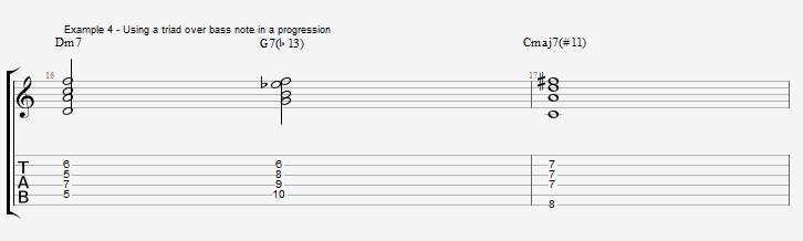 Slash Chords - All triads over bass notes - ex 4
