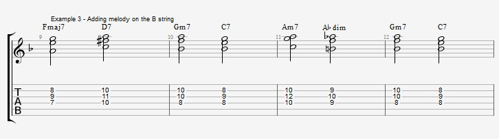 Building chords from 3rd and 7th ex 3