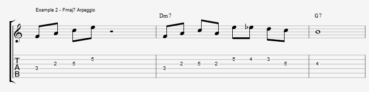 What can you play over a IIm7 chord ex 2