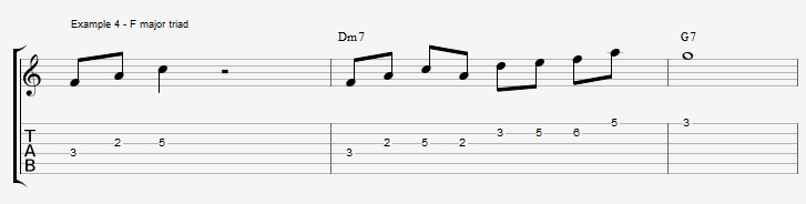 What can you play over a IIm7 chord ex 4