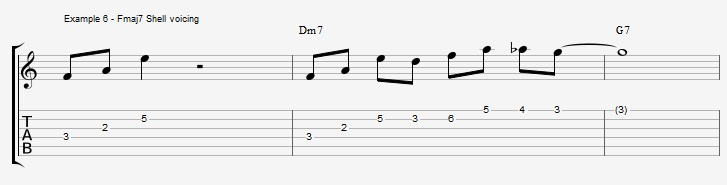 What can you play over a IIm7 chord ex 6
