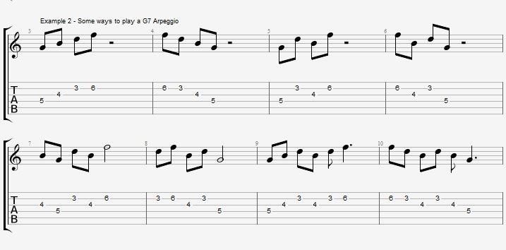 How to improvise with an arpeggio ex 2
