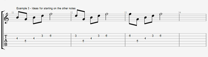 How to improvise with an arpeggio ex 3