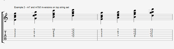 Play a standard with 2 types of Drop2 chords - ex 2