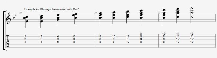 Bb Jazz Blues Chord Solo - Ex 4