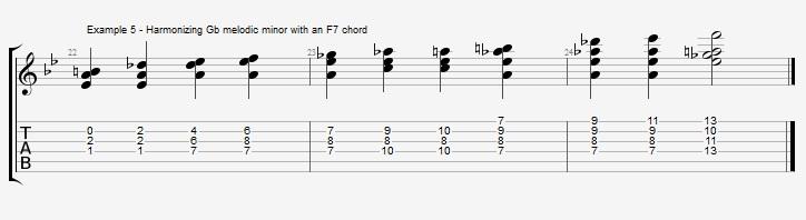 Bb Jazz Blues Chord Solo - Ex 5