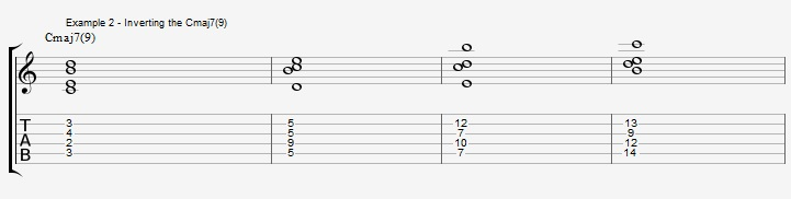 Find New Jazz Chords with inversions - ex 2