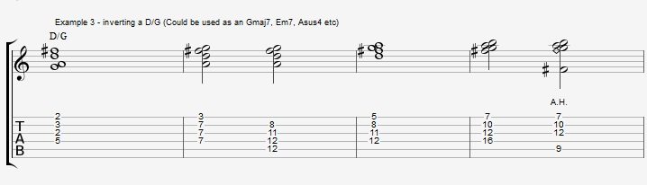 Find New Jazz Chords with inversions - ex 3