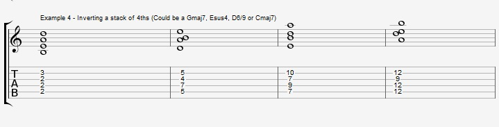 Find New Jazz Chords with inversions - ex 4