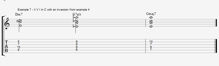 Find New Jazz Chords with inversions - ex 7