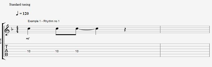 Rhythm exercise on a Jazz Blues ex 1