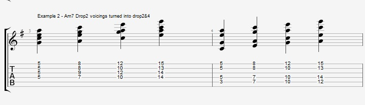 Drop2&4 voicings - Part 1 - ex 2
